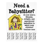 Babysitter-Flyer
