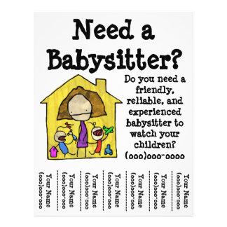 Babysitter-Flyer 21,6 X 27,9 Cm Flyer