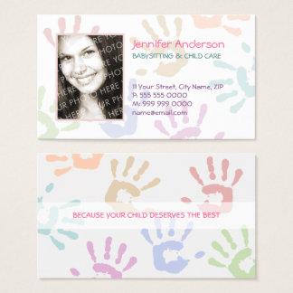 Babysitter-Kindermädchen-Foto-personalisierter Visitenkarte