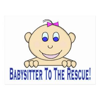 Babysitter zur Rettung Postkarte