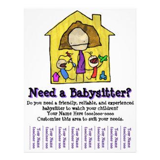Babysitting. Babysitter. Kinderbetreuung. Flyers