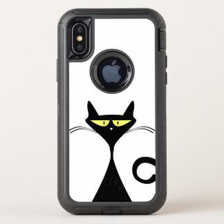 Babytierspaß-Freude der Katze glückliches schönes OtterBox Defender iPhone X Hülle