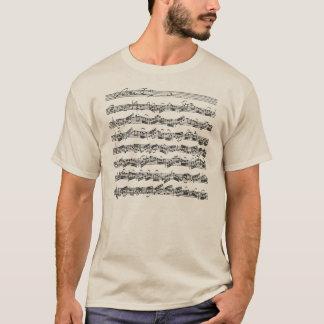 Bach Cello-Reihen-Musik-Manuskript T-Shirt