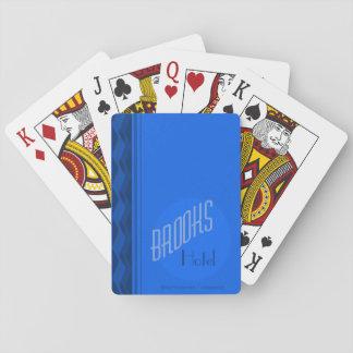 Bach-Haus-Hotel-Spielkarten (blaue Plattform) Spielkarten