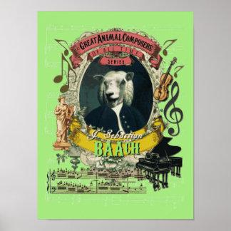 Bach Parodie-Parodie Baach lustiger Poster