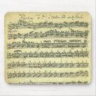 Bach Partita Musik-Manuskript für Solo- Violine Mousepad