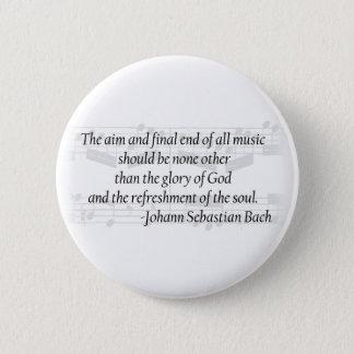 Bach Zitat-Knopf Runder Button 5,1 Cm