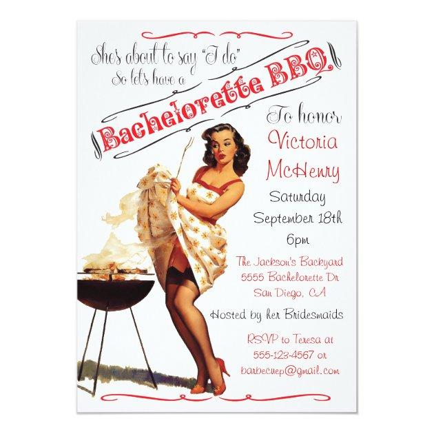 bachelorette grillen grill-party einladung | zazzle, Einladung