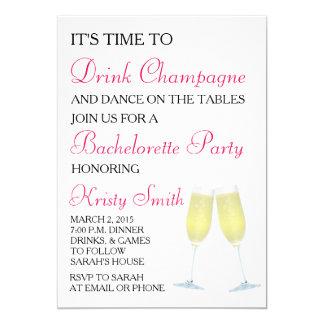 Bachelorette oder Henne-Party Einladung
