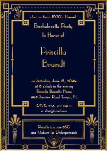 Art Deco Einladungen | Zazzle.de
