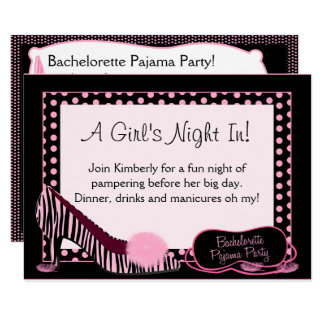 Bachelorette Pyjama-Party Einladung