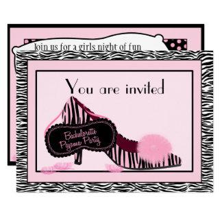 Bachelorette Pyjama Party Einladung