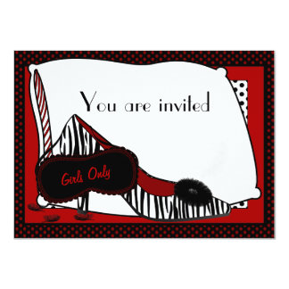Bachelorette Pyjama-Party Einladung