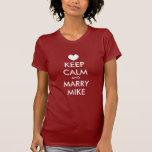 Bachelorette T-Shirts mit behalten ruhiges Thema