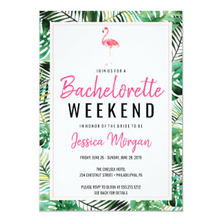 Bachelorette Weekend Itinerary Tropical Flamingo