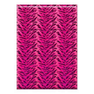 Bachelorette Zebra-Mode-Geldbeutel-Party laden 12,7 X 17,8 Cm Einladungskarte