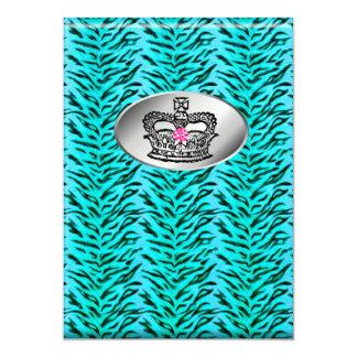Bachelorette Zebra-Schmuck-Kronen-Party laden PB 12,7 X 17,8 Cm Einladungskarte