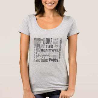 Bachelorettes Chic, der Bibel-Zitat LIEBE T-Shirt