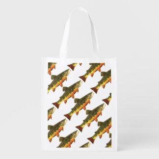 Bachforelle-Fischen Einkaufstaschen