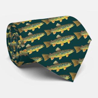 Bachforelle-Fischen Krawatte