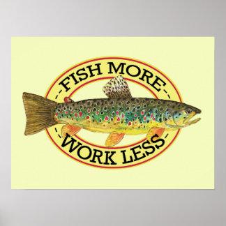 Bachforelle-Fischen Poster