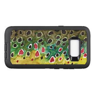 Bachforelle-Fliegen-Fischen, Ichthyologie OtterBox Defender Samsung Galaxy S8+ Hülle
