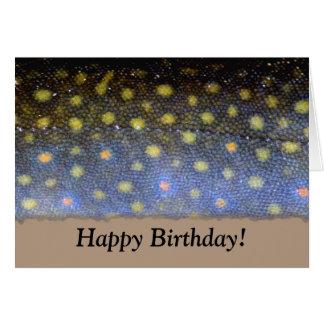 Bachforelle-Geburtstags-Karte Karte
