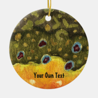 Bachforelle-Haut-Fliegen-Fischen Keramik Ornament