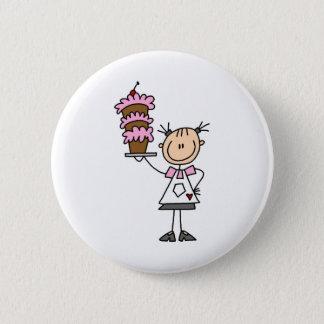 Backen eines Kuchen-Knopfes Runder Button 5,7 Cm