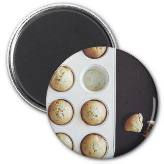 Backen-kleine Kuchen - süßer Bäckerei-Druck Runder Magnet 5,7 Cm