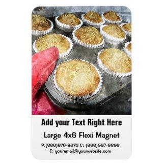 Backen-Muffins oder kleine Kuchen Flexible Magnete
