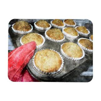Backen-Muffins oder kleine Kuchen Eckiger Magnet