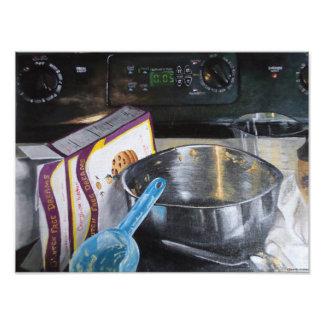 Backen-Plätzchen in der Küchen-Acrylmalerei Fotodruck