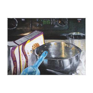 Backen-Plätzchen in der Küchen-Acrylmalerei Leinwanddruck