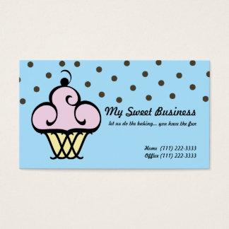 Backen Sie Geschäfts-kleinen Kuchen Visitenkarte