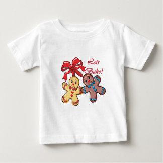 Backen Sie Lebkuchen-Männer Baby T-shirt