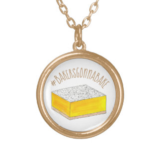 Bäcker, die gehen, Hashtag gelbes Vergoldete Kette