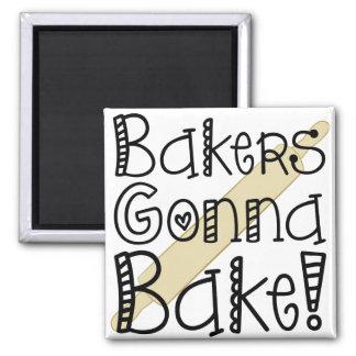 Bäcker, die gehen, Magneten zu backen Quadratischer Magnet