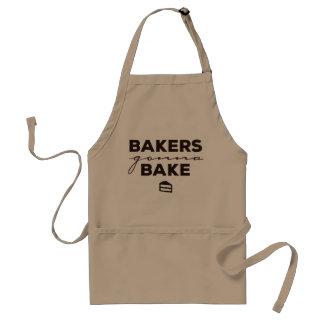 Bäcker, die gehen, Schürze zu backen