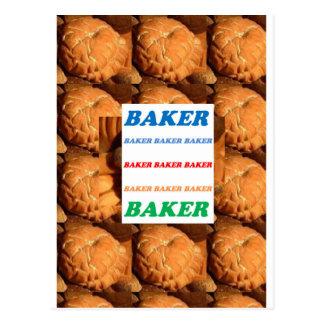 BÄCKER Keks-Plätzchen-Kuchen-Gebäck-Eiscreme SPASS Postkarte