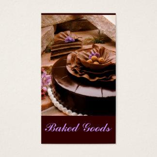 Bäcker-Kuchen-Trüffel Visitenkarte