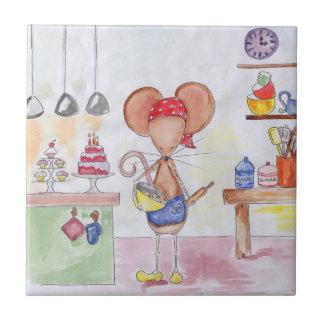 Bäcker-Mäusefliese Kleine Quadratische Fliese
