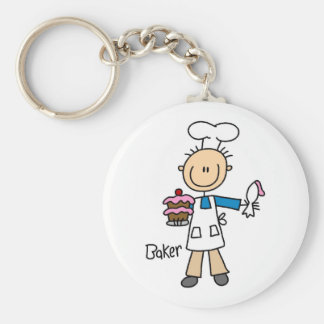 Bäcker mit Kuchen Standard Runder Schlüsselanhänger