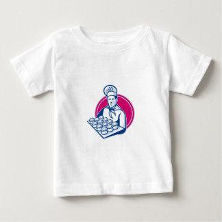Bäcker-Serviertablett der Schweinefleischtorten Baby T-shirt