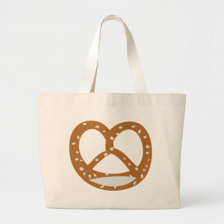 Bäckerbrezelbäckerei-Logosymbol Tragetaschen