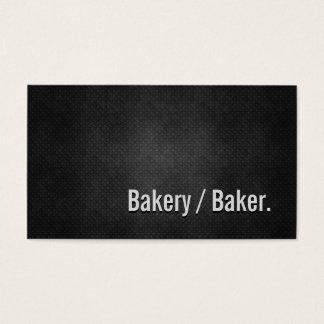 Bäckerei-/Bäcker-coole schwarze Metalleinfachheit Visitenkarte