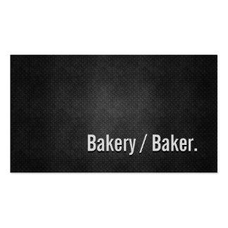 Bäckerei-/Bäcker-coole schwarze Metalleinfachheit Visitenkarten