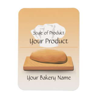 Bäckerei gebackener Brot-Produkt-Magnet Rechteckiger Fotomagnet