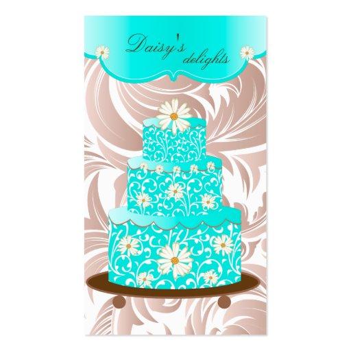 Bäckerei-Hochzeits-Kuchen-Gebäck-Kochs-blaues Visitenkarten