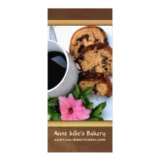 Bäckerei-/Kaffeestube-Anzeige Werbekarte